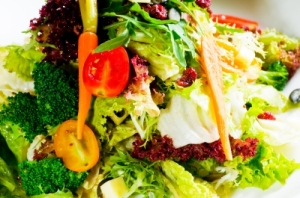 Pile of salad