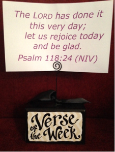 The LORD has done it this very day; let us rejoice today and be glad